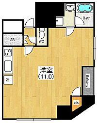 CALLING SHINMACHI[9階]の間取り