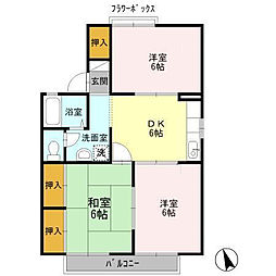 グランドゥール岩崎 A棟[2階]の間取り