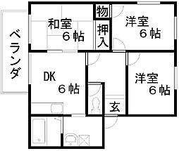 フレグランス藤井C棟[202号室]の間取り