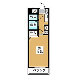 ベル名駅[8階]の間取り