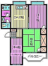 斉藤第1マンション[205号室]の間取り
