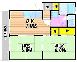 岡山県岡山市南区福島4丁目の賃貸アパートの間取り