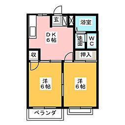 本多ハッピーマンション[2階]の間取り