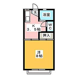 ウィステリア[2階]の間取り