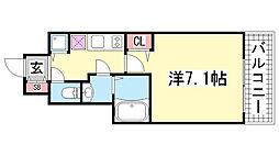 アスヴェル神戸ハーバーサイド[405号室]の間取り