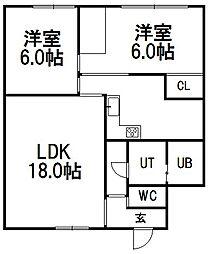 No・4ミユキマンション[103号室]の間取り