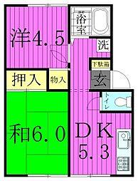 東京都足立区西新井7丁目の賃貸アパートの間取り