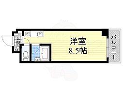Adrable Mino 1階ワンルームの間取り