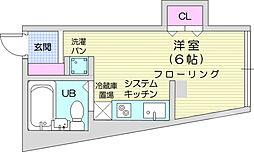 昇龍ビル 4階ワンルームの間取り