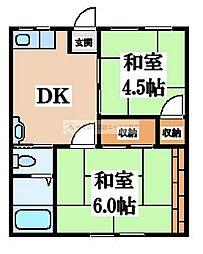 八十八マンション[3階]の間取り