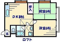 倉田ハイツ[2階]の間取り