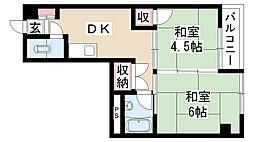 愛知県名古屋市南区三条2丁目の賃貸マンションの間取り