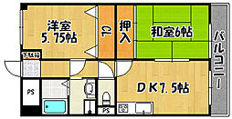 兵庫県明石市大観町の賃貸マンションの間取り