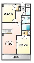 リーガル桜島[4階]の間取り