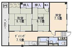 広島県広島市西区古江西町の賃貸マンションの間取り