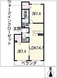 長良川サンハイツ A棟[1階]の間取り