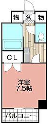 シャトレ21大手門[406号室]の間取り