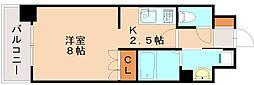 福岡県福岡市博多区元町2の賃貸マンションの間取り