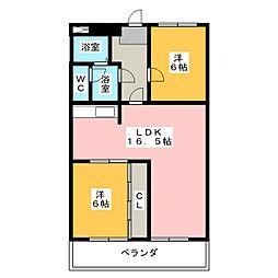 三國ビル[6階]の間取り