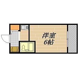 ハイツ白樺[1階]の間取り