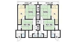 米田コーポ[E-2F号室]の間取り