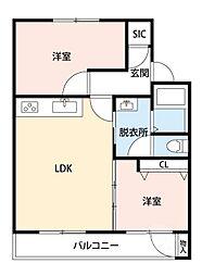 吹東マンション[4階]の間取り