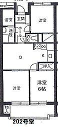 メゾンタジマ[2階]の間取り