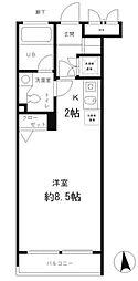 レジディア笹塚[4階]の間取り