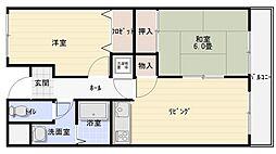 マンション阪奈[4階]の間取り