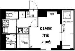 千葉県我孫子市天王台2丁目の賃貸マンションの間取り