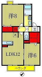 アンクレージュ・VAN[2階]の間取り