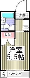 埼玉県さいたま市中央区新中里3丁目の賃貸アパートの間取り