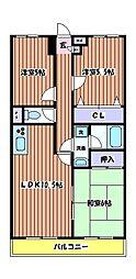 東京都立川市幸町1丁目の賃貸マンションの間取り