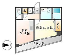 パルコート伊勢山[5階]の間取り