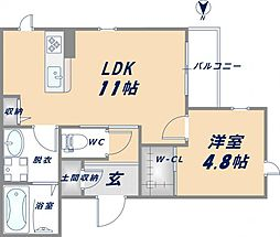 Apartment6002[006号室]の間取り
