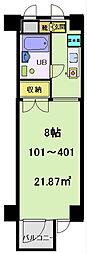 富士見マンション[203号室]の間取り