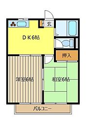 コーポカトレア2号館[1階]の間取り