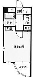 スタジオ甲東園[301号室]の間取り
