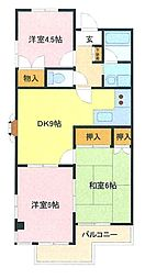 埼玉県さいたま市緑区原山1丁目の賃貸マンションの間取り