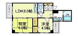 TNK阿倍野2番館[2階]の間取り