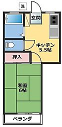 小山コーポI[102号室]の間取り