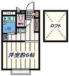 東京都足立区江北3丁目の賃貸マンションの間取り