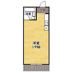 竹中食品ビル3階 3階1Kの間取り