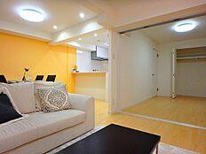 洋室&LDKで約20.8帖の広々空間