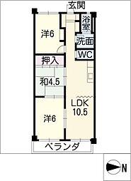 坂田ハイツ[3階]の間取り