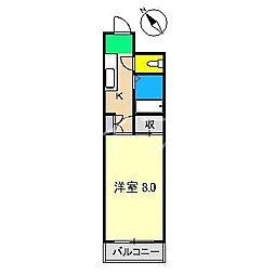 ジョイフル薊野[3階]の間取り