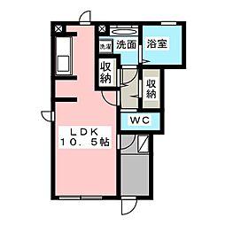 静岡県静岡市清水区神田町の賃貸アパートの間取り