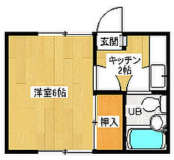 京都府京都市西京区上桂東居町の賃貸アパートの間取り