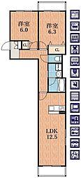 ベルプラザ[2階]の間取り