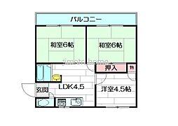 リバーサイドマンションレオ[301号室]の間取り